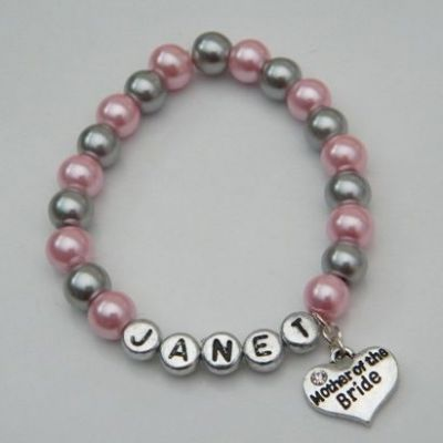 Mother Of The Bride Personalised Bracelet - Beaded Style